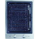 Miele CS1322BG240V 15 Inch Wide 240 Volt Built-In Indoor Electric Grill Module Stainless Steel