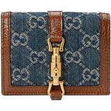 Jackie 1961 Card Case Wallet - Blue - Gucci Wallets