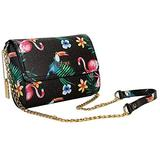 FOEVTRUE Women's Crossbody Handbags Clutch Flap Shoulder Messenger Chain Strap Bag