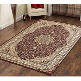 Context Oriental Medallion Traditional Red Beige Persian Style Area Rug