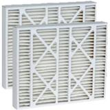 16X26x3 (15.75 X 26.13 X 3) Merv 11 Accumulair Replacement Filter For Lennox (2 Pack) in White, Size 16.0 H x 3.0 D in   Wayfair DPFL16X26X3M11_2