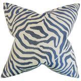 Everly Quinn Alajos Zebra Print Bedding Sham Cotton Blend in Blue, Size 26.0 H x 20.0 W x 5.0 D in   Wayfair BBMT3464 40282100