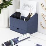 Bigso Desk Organizer in Blue, Size 7.2 H x 6.2 W x 9.4 D in | Wayfair 8581C3849