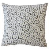 Dakota Fields Creede Modern Geometric Down Filled 100% Cotton Throw Pillow Down/Feather/Cotton in Blue, Size 18.0 H x 18.0 W x 5.0 D in | Wayfair