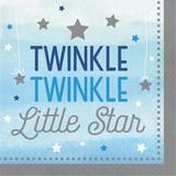 """Creative Converting One Little Star 6.5""""s Paper Disposable Napkins Paper in Blue 