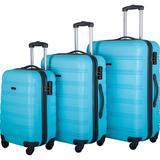 PENGFANG WORLDWIDE LLC Hardside Spinner Suitcase in Blue, Size 30.0 H x 20.0 W x 12.0 D in   Wayfair FPP191030AAM