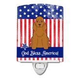 Caroline's Treasures Patriotic USA Pug Ceramic Night Light Ceramic, Size 6.0 H x 3.0 W x 3.0 D in | Wayfair BB3090CNL