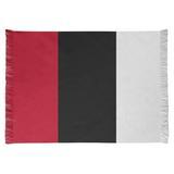 East Urban Home Cincinnati Flatweave Red/Black Rug Chenille in Black/Red, Size 65.0 H x 54.0 W x 0.25 D in | Wayfair