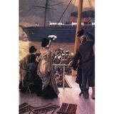 Buyenlarge 'Farewell to the Mersey' by James Tissot Painting Print in White, Size 36.0 H x 24.0 W x 1.5 D in   Wayfair 0-587-25550-1C2436