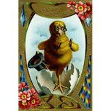 Buyenlarge 'Easter Greetings' Graphic Art in Blue/Brown, Size 30.0 H x 20.0 W x 1.5 D in   Wayfair 0-587-22948-9C2030