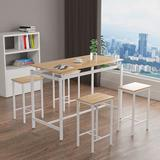 Greenlife 5 - Piece Counter Height Dining SetWood/Metal in White/Brown, Size 34.7 H x 23.6 W x 47.0 D in   Wayfair GLZYT0006