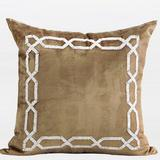 G Home Collection Handmade Textured Frame Beaded Throw Pillow Polyester/Polyfill/Cotton Blend in Yellow, Size 20.0 H x 20.0 W x 3.0 D in | Wayfair