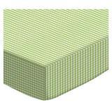Harriet Bee Joelle Gingham Jersey Knit Fitted Bassinet Sheet Cotton Blend in Green   Wayfair HBEE8005 42964891