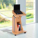 HomCom Adjustable Laptop Storage Cart Wood in Brown, Size 31.5 H x 15.7 W x 21.7 D in   Wayfair 920-014