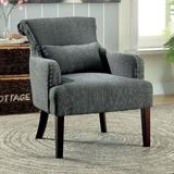 """Hokku Designs Marlow 29"""" Wide Polyester Armchair Wood/Polyester/Polyester blend/Fabric in Gray, Size 34.5 H x 29.0 W x 33.5 D in   Wayfair"""