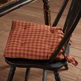 Laurel Foundry Modern Farmhouse® Check Chair Pad Cushion Cotton Blend in Black/Brown, Size 3.0 H x 15.0 W x 15.0 D in | Wayfair