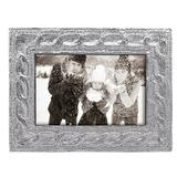 Mariposa Cable Knit Picture Frame Metal in Gray, Size 7.25 H x 6.0 W x 0.5 D in   Wayfair 7201
