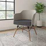 "Etc. Deker 24"" W Waiting Room Chair w/ Wood Frame Wood in Gray, Size 31.0 H x 24.0 W x 23.0 D in | Wayfair C01SDC0303"