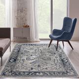 Persian-rugs Taba Oriental Beige Area Rug Polyester in White, Size 86.0 H x 62.0 W x 0.5 D in | Wayfair 7083 Beige 5x7