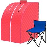 joyxeon Single Person Indoor Portable Traditional Steam Sauna, Size 39.0 H x 32.0 W x 28.0 D in | Wayfair BBB-ZCF0027E-4
