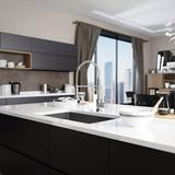 """René Radius Stainless Steel 31"""" L x 18"""" W Undermount Kitchen Sink w/ Additional Accessories Stainless Steel in Gray   Wayfair R1-1022S-18"""
