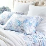 Pine Cone Hill Tranquility 400 Thread Count Floral 100% Cotton Pillowcase 100% cotton/Cotton/100% Cotton/100% Cotton Sateen in Blue, Size Queen