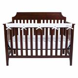 Trend Lab Jungle Crib Rail Guard Cover Polyester in White, Size 6.0 W x 1.0 D in | Wayfair 109126