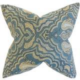 The Pillow Collection Wystan Damask Bedding Sham Polyester in Blue, Size 26.0 H x 20.0 W x 5.0 D in   Wayfair STD-ROB-WORLDLYRRBK-AEGEAN-P100