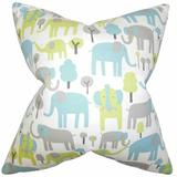 The Pillow Collection Carleton Animal Print Bedding Sham 100% Cotton in Blue/Gray, Size 26.0 H x 20.0 W x 5.0 D in   Wayfair