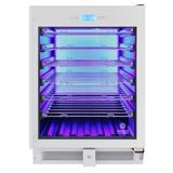Vinotemp 41 Bottle Single Zone Freestanding/Built-in Wine Refrigerator in White, Size 34.38 H x 25.5 W x 23.5 D in | Wayfair EL-WCU105-02