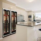 Vinotemp 141 Bottle Single Zone Freestanding/Built-In Wine Cellar in Gray, Size 73.75 H x 28.75 W x 24.0 D in | Wayfair EL-WCU109-02