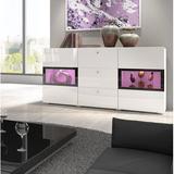 Orren Ellis Morton Sideboard Wood in White, Size 27.6 H x 52.0 W x 15.4 D in | Wayfair 11B0A4D9DA2B4628985C10074C8AF81D