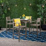 Millwood Pines Bennett 5 Piece Bar Height Dining Set Wood in Gray, Size 39.75 H x 39.75 W x 30.5 D in   Wayfair BBB67E7403044D98B9199148E20E2C43