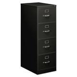 Symple Stuff Saffo 4-Drawer Vertical Filing Cabinet Metal/Steel in Brown, Size 52.0 H x 18.25 W x 25.0 D in | Wayfair