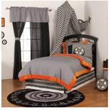 Zoomie Kids Murphy 3 Piece Toddler Bedding Set Polyester in Gray, Size Twin | Wayfair 10-20121