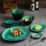 Mercer41 Tashia 11 Piece Dinnerware Set, Service for 4 Ceramic/Earthenware/Stoneware in Green | Wayfair B9B9348EB8B944D0848BF766A443E8BA