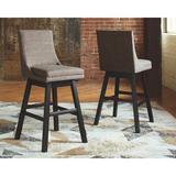 Laurel Foundry Modern Farmhouse® Nestor Swivel Counter & Bar Stool Upholstered in Gray, Size 44.38 H x 18.88 W x 22.0 D in | Wayfair