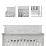 Three Posts™ Baby & Kids Conyers 5-in-1 Convertible Crib Metal in Gray/White, Size 32.0 H x 58.0 W x 46.0 D in | Wayfair