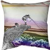 East Urban Home Katsushika Hokusai Kajikazawa in Kai Province Throw Pillow Cotton, Size 20.0 H x 20.0 W x 1.5 D in   Wayfair