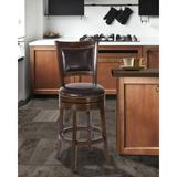Alcott Hill® Jeannie Bar & Counter Swivel Stool Wood/Plastic/Acrylic in Brown, Size 42.25 H x 20.25 W x 18.5 D in   Wayfair 5221-827