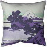 East Urban Home Katsushika Hokusai Shichiri Beach in Sagami Province Throw Pillow Cotton in Green, Size 18.0 H x 18.0 W x 18.0 D in   Wayfair