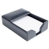 Symple Stuff Gribble Leather Memo Pad Holder Leather in Blue, Size 1.75 H x 4.75 W x 7.0 D in | Wayfair 8DC9544C3B9D489B85916DEA6EE3506C