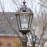 "Alcott Hill® Rasberry 1 - Light 87"" H Solar Powered Post (Full) Aluminium/Metal in Yellow, Size 87.0 H x 9.0 W x 9.0 D in | Wayfair GS-98B-S-WB"