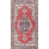 Bloomsbury Market Girdler Oriental Red/Beige/Gray Area Rug in Gray/Red/White, Size 144.0 H x 60.0 W x 0.35 D in | Wayfair