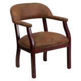 Astoria Grand Filson Low-Back Conference ChairUpholstered in Brown, Size 30.0 H x 24.0 W x 27.0 D in | Wayfair OF-B-Z105-BRN-GG