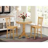 Charlton Home® Smyth Counter Height Rubberwood Solid Wood Dining Set Wood in Brown, Size 36.0 H in | Wayfair JAGR3-OAK-W