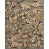 World Menagerie Arber Floral Handmade Tufted Wool Sage Area Rug Wool in Brown/Green, Size 72.0 H x 48.0 W x 0.63 D in   Wayfair JAR459B-4