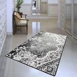 World Menagerie Daidone Gray Area Rug Polyester in White, Size 70.0 H x 47.0 W x 0.4 D in | Wayfair FB4015FBC9404604A58B0B4278F0DD8E