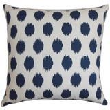 Latitude Run® Rossitano Ikat Bedding Sham 100% Cotton in Blue/Gray, Size 26.0 H x 26.0 W x 8.0 D in | Wayfair EURO-PP-CHIPPER-NAVY-C100