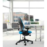Steelcase Leap Task Chair Upholstered/Polyester/Polyester Blend in Gray/Green/Blue, Size 43.5 H x 27.0 W x 24.75 D in | Wayfair